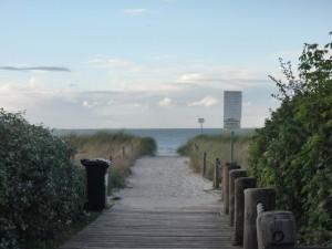 Blick auf den Strand Am Schwarzen Busch auf der Insel Poel