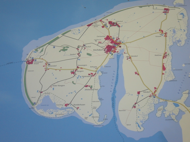 Karte Insel Poel Und Umgebung.Karte Der Insel Poel